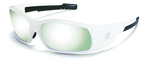 Crews SR127 Swagger Safety Glasses White Frame w/ Silver Mirror Lens (12 Pair)