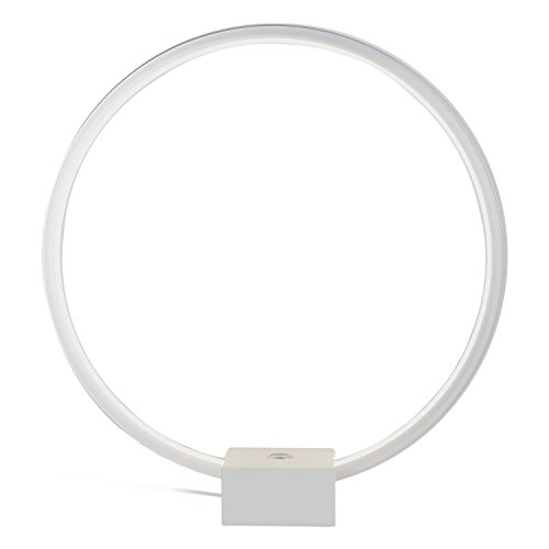 Brightech - Circle LED Table & Desk Lamp - Bright Orb of Light with...