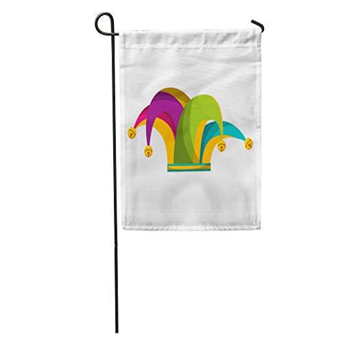 - Semtomn Garden Flag Joker Harlequin Hat Flat Medieval April Carnival Celebration Character Cheerful Home Yard House Decor Barnner Outdoor Stand 12x18 Inches Flag