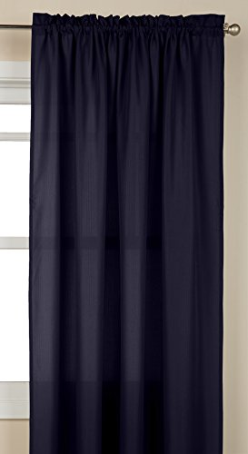 (LORRAINE HOME FASHIONS Ribcord Tailored Window Curtain Panel, 55