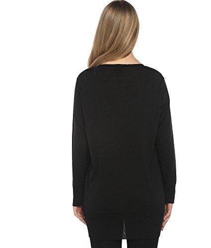 Crazy Girls Womens Boyfriend Pocket Cardigan Jersey Shrug (M/L-US10/12, Black)