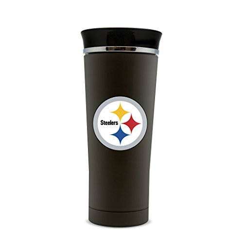 NFL Pittsburgh Steelers 18oz Double Wall Stainless Steel Leakproof Thermo Tumbler by Duck House