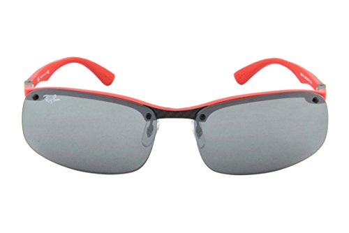 4cd59279d6 ... top quality ray ban tech sunglasses rb8314 126 6g dark carbon red grey  mirror 63 amazon