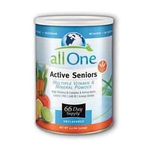 Tous les vitamines One poudre multiples et minéraux pour les aînés actifs, de 2,2 kilos peut