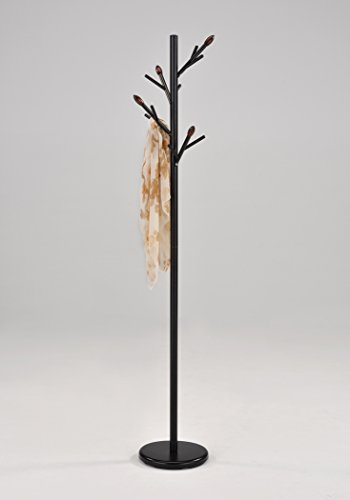 Stand Branch - Black Finish Branch Style Hooks Coat Jacket Purse Hat Rack Stand