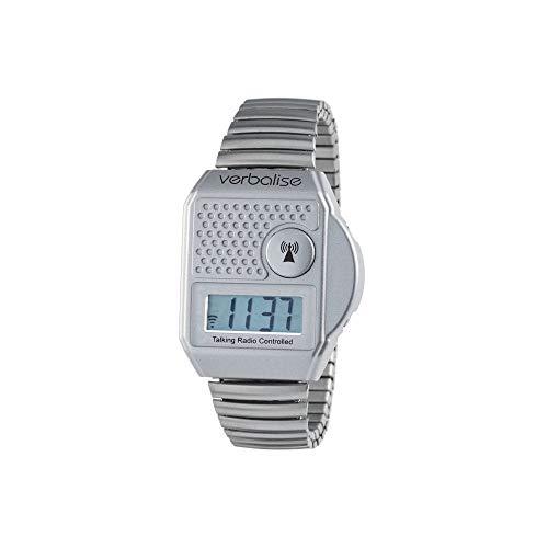 Verbalise Digital Top Button Talking Watch, Silver