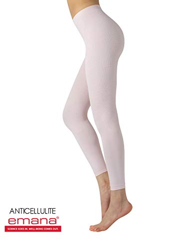 - Slimming Anticellulite Pajamas Pants | Shaper Leggings with Massage Effect | S/M, L/XL | Pink | Made in Italy (S/M, Pink)