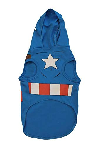Marvel Captain America Costume For Dogs, X-Small | Best Superhero Halloween Costumes For All Small Dogs and Puppies -