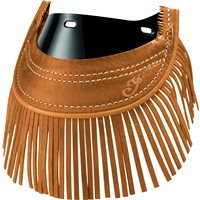 2014-2019 Genuine Chief Leather Front Mud Flap With Fringe - Desert -