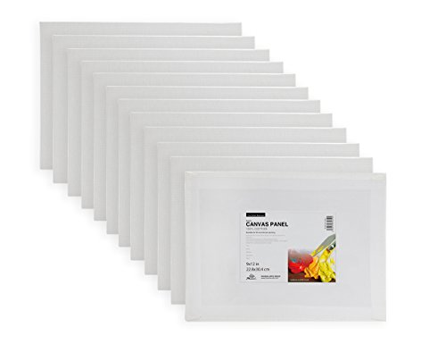 Phoenix Super Value Pack Canvas Panel 9x12 inch -Pack of 12 (9 X 12 Canvas)