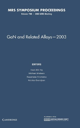 GaN and Related Alloys - 2003: Volume 798 (MRS Proceedings)