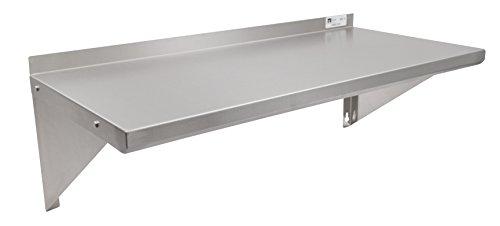 Shelf Commercial Wall Steel Stainless (John Boos EWS8-1636 Stainless Steel Standard Wall Shelf, 36