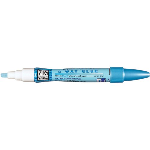 Pen Glue Zig (Zig Memory System Large Two Way Glue Pen Chisel Tip (Pack of 12))