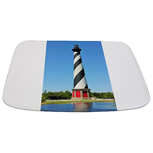 CafePress Cape Hatteras Lighthouse. Decorative Bathmat, Memory Foam Bath -