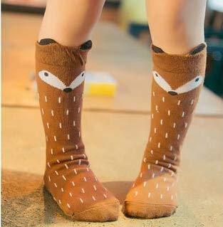 a40d67e9d Amazon.com  Cartoon Cute Kids Socks Bear Animal Baby Cotton Socks Knee High  Long Legwarmers Cute Socks Boy Girl Children Socks 1-3 Y  Baby