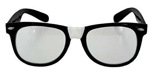 elope Black Nerd Glasses - Glasses With Tape Nerd