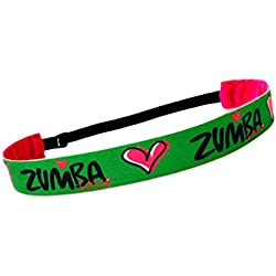 RAVEbandz Exclusive Fashion Headbands (ZUMBA LOVE) ñ Adjustable, Non-Slip Sports & Fitness Hair Bands for Women and Girls