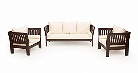 Woodkartindia Sheesham Wood Sofa Set With Cushion 5 Seater 3 1 1