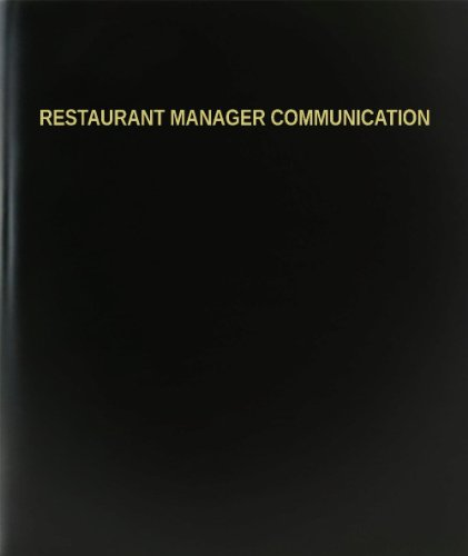 BookFactory® Restaurant Manager Communication Log Book / Journal / Logbook - 120 Page, 8.5''x11'', Black Hardbound (XLog-120-7CS-A-L-Black(Restaurant Manager Communication Log Book)) by BookFactory