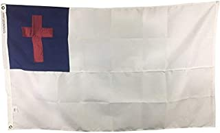 product image for 3x5' Christian Flag for Outdoor, Sewn All Weather Nylon, Made in USA