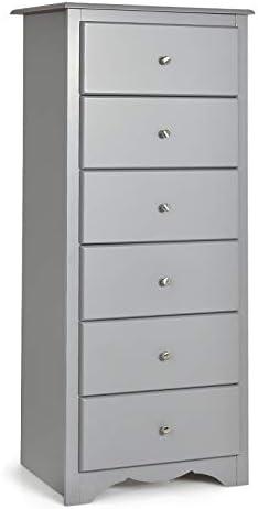 Giantex 6 Drawer Chest Wooden Dresser Clothes Organizer Bedroom