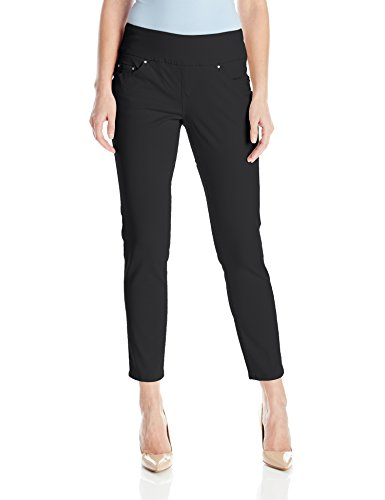 Jag Jeans Women's Amelia Slim Ankle Pull on Jean, Black, 10 (Jeans Black Twill)