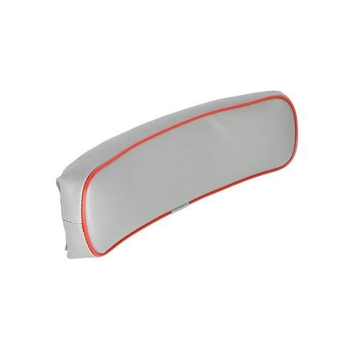Backrest Vinyl Gray with Red Trim Massey Ferguson 285 85 TE20 20D 245 1030 185 150 TO35 130 202 30E 40 40 50 65 88 133 140 230 20 204 283 TEA20 TO20 TO30 35 98 135 178 240 250 235 30 203 20C 181325M91 by All States Ag Parts