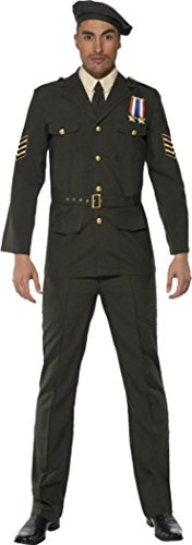 Mens Wartime Officer Costumes (Wartime Officer Large)