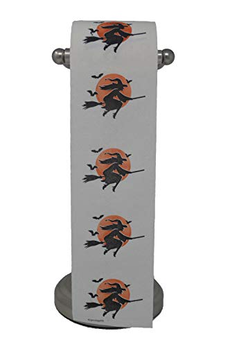 Halloween Toilet Paper Decoration, Witch and Moon TP, -