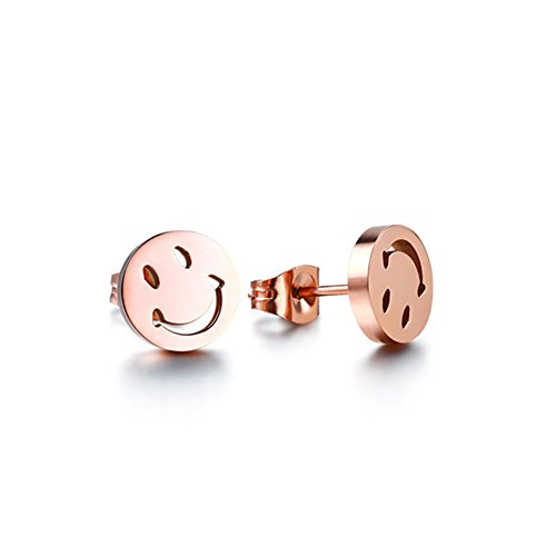 Womens Jewelry Stainless Smiley Earrings