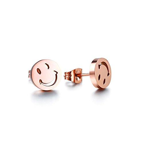 Stainless Steel Emoji Stud Earrings with Gift Box