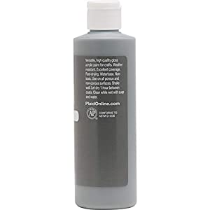 Apple Barrel Gloss Acrylic Paint, 8 oz, Dark Gray