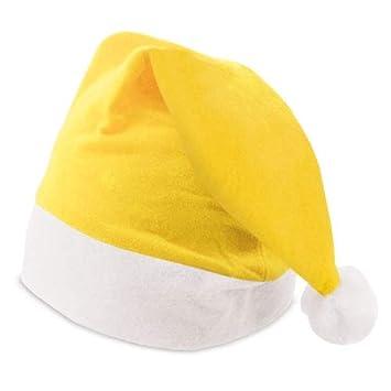 DISOK Lote de 100 Gorros de Papa Noel Amarillos - Gorros de Papa Noel de Colores Navidad: Amazon.es: Juguetes y juegos