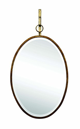 Creative Co-op Framed Oval Wall Mirror with Hanging -