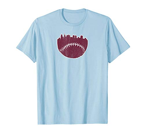 Vintage Philadelphia PA Cityscape Baseball Retro T-Shirt