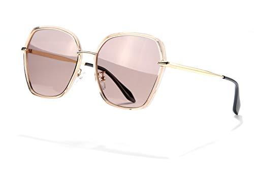 (REBSUN Oversized Sunglasses for Women Polarized UV Protection Big Square Black Designer SunGlasses Fashion Brown)