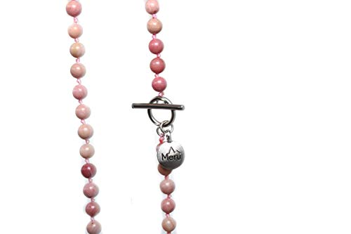 Premium 6mm Rhodonite Mala Beads Necklace by MeruBeads (Image #5)