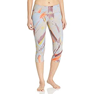 Alo Yoga Women's Airbrush Capri Legging, Modernist Multi, Medium