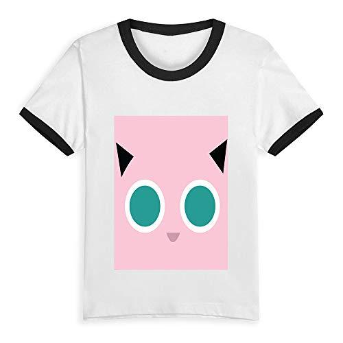 Short-Sleeve T-Shirts Pokémon Jigglypuff T-Shirt Cotton Tee Tank Tops for Kids Jiggly Puff Smiley Pink 3T]()
