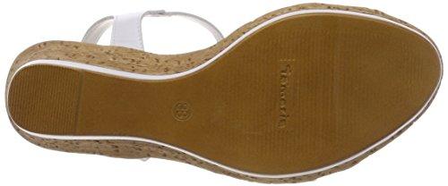 Women's Tamaris 3 Sandals 197 Uk white White 28347 White Comb T bar ZxxqgFA
