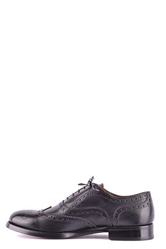 Doucals Men Mcbi102009o Scarpe Stringate In Pelle Blu