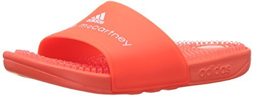 adidas by Stella McCartney Women's Recovery Slides, Core Red/FTWR White, 10 B(M) US