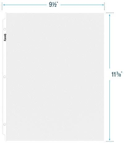 225 Pack 8.5 x 11 QuickFit Top Load Sheet Protectors Economy, Clear