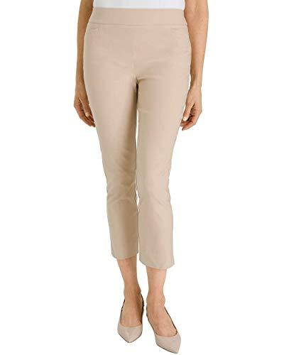Chico's Women's So Slimming Brigitte Slim Crops Size 14 L (2.5) Tan