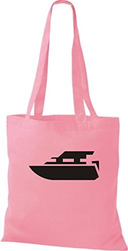 JUTA Tote Bag BARCA MOTORE, YACHT, barca,SKIPPER, CAPITANO - rosa, 38 cm x 42 cm