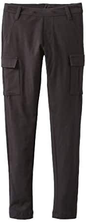 Flowers by Zoe Big Girls' Solid Cargo Pant, Black, Small