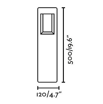 Faro 71199 NAYA LED Lampe balise gris fonc/é