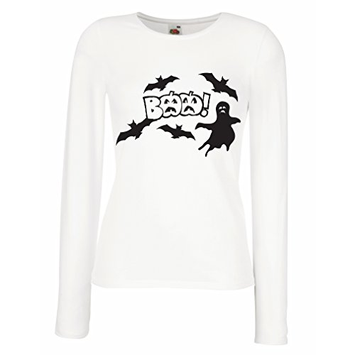 T Shirt Women BAAA! - Funny Halloween Costume Ideas, Cool Party Outfits (Large White Multi Color) ()
