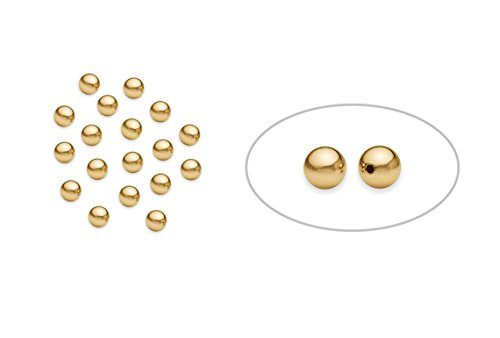 100 Pieces 14K Gold Filled Round Smooth Beads 3 mm ()
