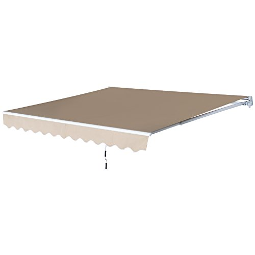 Outsunny 12' x 8.2' Outdoor Patio Manual Retractable...